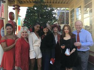 """At the Grove With the cast of The Rich and  the Ruthless. Congrats on the 2nd season so proud and excited for you Hunter Bodine aka """"Randell"""""""
