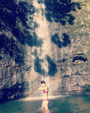 Finished 2017 by crossing off a bucket list event: swimming in a waterfall. ☺️😍